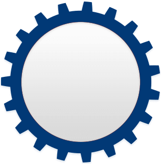 Image of a blue circle denoted a wheel