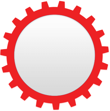 Image of a red circle denoted a wheel